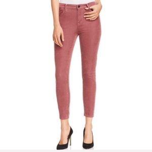 New J Brand Alana Velvet Corduroy High Rise Jeans